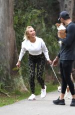 MARY FITZGERALD and Romain Bonnet Out Hiking in Los Angeles 02/09/2021