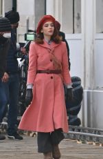MATILDA DE NAGELIS on the Set of Across the River and Into The Trees in Venice 02/19/2021