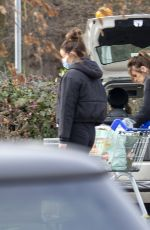 MAURA HIGGINS Shopping at Tesco in London 02/24/2021