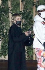 MILEY CYRUS and Lil Nas X at Nobu in Malibu 02/19/2021