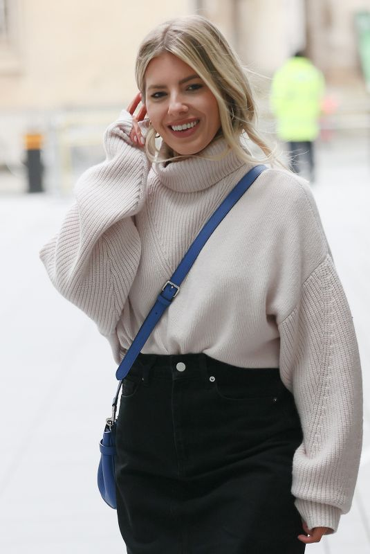 MOLLIE KING Arrives at BBC Radio 1 in Lndon 02/06/2021