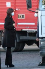 MONICA BELLUCCI on the Set of Her New Movie in Rome 02/12/2021