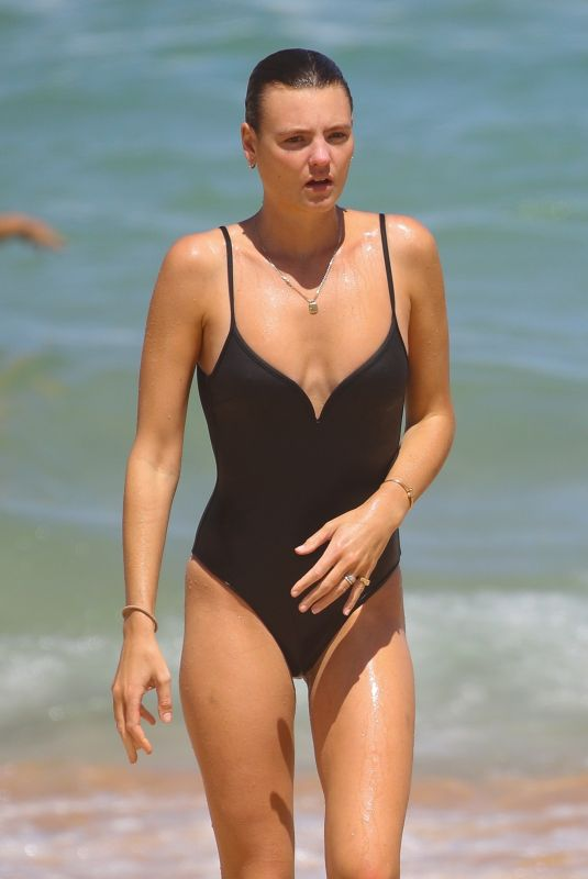 MONTANA COX in Swimsuit at a Beach in Sydney 02/22/2021
