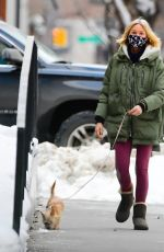 NAOMI WATTS Out with Her Dog in New York 02/04/2021