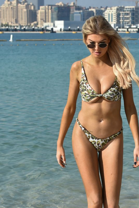 NICOLE O'BRIEN in Bikini at a Beach in Dubai 02/09/2021
