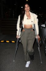 NICOLE WILLIAMS With a Broken Foot at E-Baldi in Beverly Hills 02/24/2021