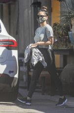 OLIVIA MUNN Leaves a Gym in West Hollywood 02/22/2021