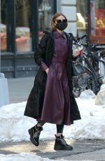 OLIVIA PALERMO Out and About in Brooklyn 02/10/2021