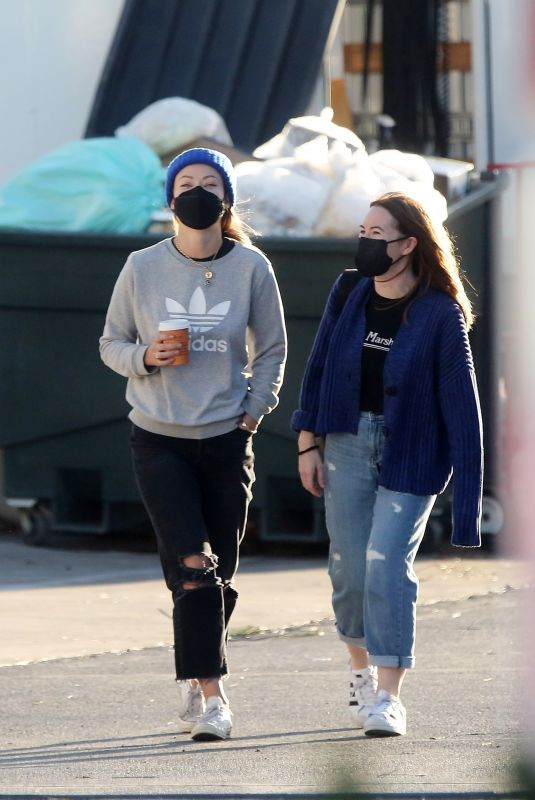OLIVIA WILDE on the Set of Don't Worry Darling in Los Angeles 02/09/2021