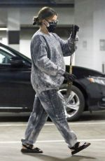 Pregnant ASHLEY TISDALE at a Parking Lot in Los Angeles 02/03/2021