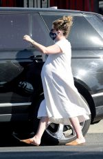 Pregnant ASHLEY TISDALE Out for Coffee in Los Feliz 02/27/2021
