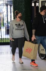 Pregnant BRITTANY CATWRIGHT Shopping at Century City Mall in New York 02/25/2021