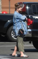 Pregnant BRITTANY CATWRIGHT Shopping at Target in Hollywood 02/24/2021