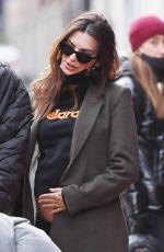 Pregnant EMILY RATAJKOWSKI Out in New York 02/06/2021