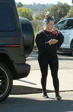 Pregnant HILARY DUFF Out at a Park in Los Angeles 02/20/2021