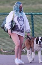 Pregnant HILARY DUFF Out with Her Dog in Los Angeles 02/26/2021