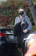 Pregnant MANDY MOORE Out and About in Los Angeles 02/08/2021