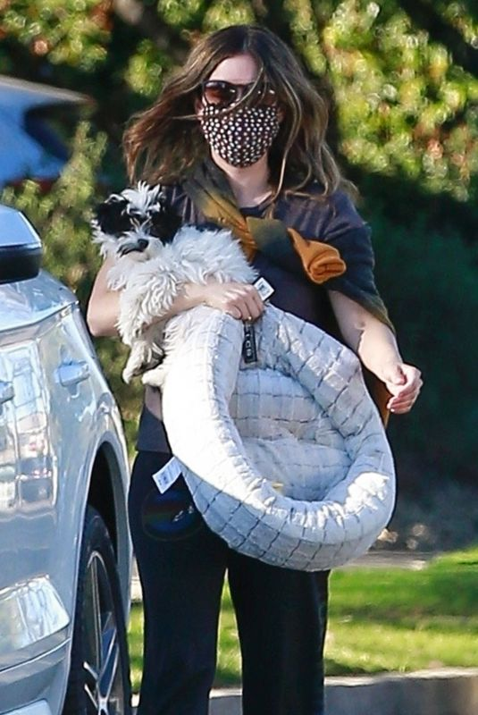 RACHEL BILSON Out with Her Dog in Los Angeles 02/21/2021