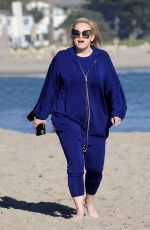 REBEL WILSON Out on the Beach in Santa Barbara 02/21/2021