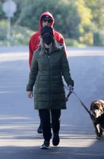REESE WITHERSPOON and Jim Toth Out with Their Dogs in Brentwood 02/07/2021
