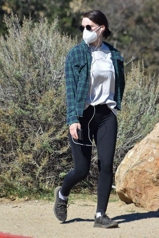 ROONEY MARA Out Hiking in Los Angeles 02/19/2021
