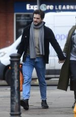 ROSE LESLIE and Kit Harington Out in London 02/16/2021