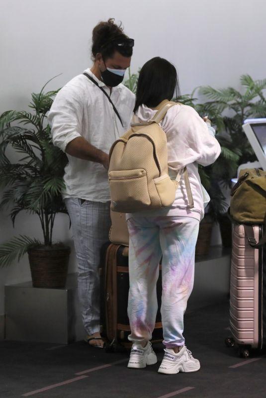 SCHEANA SHAY and Brock Davies at LAX Airport 02/12/2021