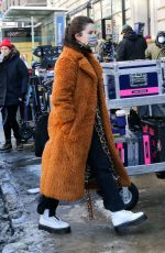 SELENA GOMEZ on the Set of Only Murders in the Building in New York 02/20/2021