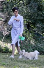 SELMA BLAIR Out with Her Dog in Beverly Hills 02/26/2021