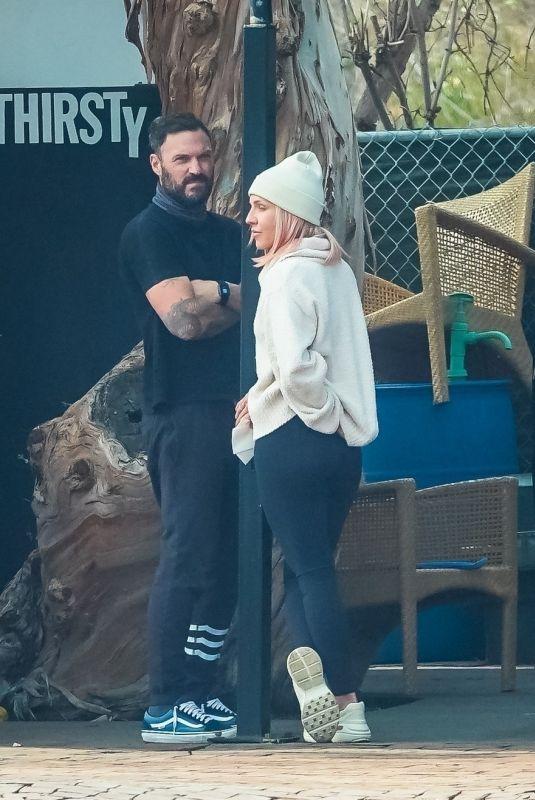 SHARNA BURGESS and Brian Austin Green at Car Wash in Malibu 01/31/2021