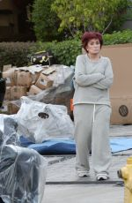 SHARON OSBOURNE Out in Los Angeles 02/16/2021