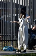 TERI HATCHER Waits for a COVID Test in Compton 02/05/2021