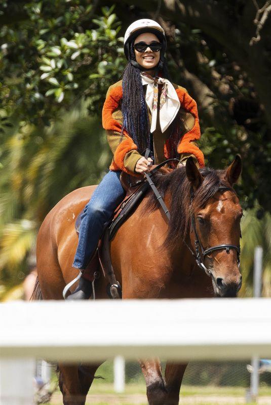 TESSAT THOMPSON at Horse Riding Lessons in Sydney's Centennial Park 02/03/2021
