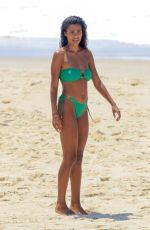 TINA KUNAKEY in Bikini at a Beach in Rio de Janeiro 02/18/2021
