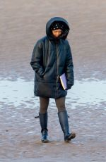 VANESSA BAUER Out for Early Morning Beach Walk in Blackpool 02/04/2021