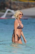 VICTORIA SILVSTEDT at a Beach in St Barts 02/23/2021
