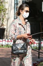 ALESSANDRA AMBROSIO Out for Lunch in Pacific Palisades 03/01/2021