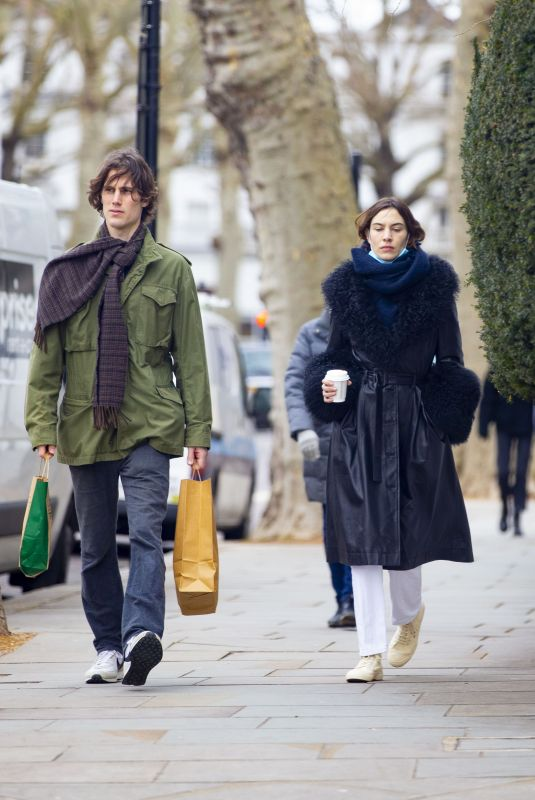 ALEXA CHUNG and Orson Fry Out in London 03/13/2021