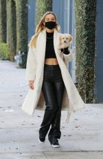 ALEXIS REN Out with Her Dog in West Hollywood 03/11/2021