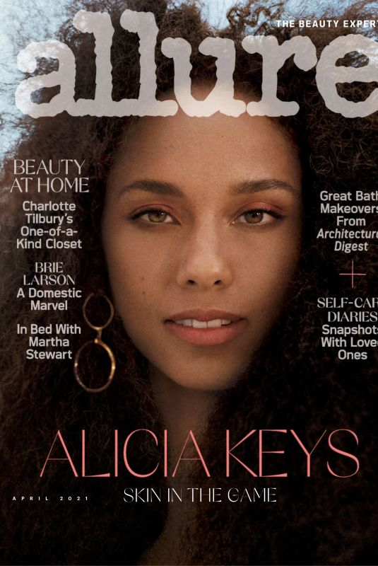 ALICIA KEYS in Allure Magazine, April 2021