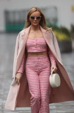 AMANDA HOLDEN Arrives at Heart Radio Studios in London 03/03/2021