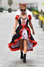 AMANDA HOLDEN Dressed as Queen of Hearts in London 03/04/2021
