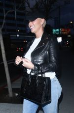 AMBER ROSE and Alexander Edwards Out for Dinner in West Hollywood 03/16/2021