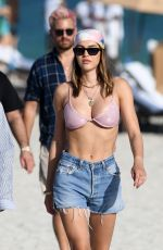 AMELIA HAMLIN in Bikini at a Beach in Miami 02/28/2021