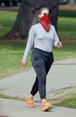 AMY ADAMS Out at Griffith Park in Los Angeles 03/24/2021