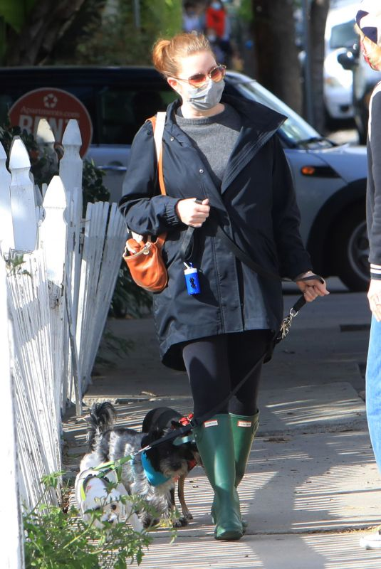 AMY ADAMS Out wtih Her Dogs in Los Angeles 03/10/2021