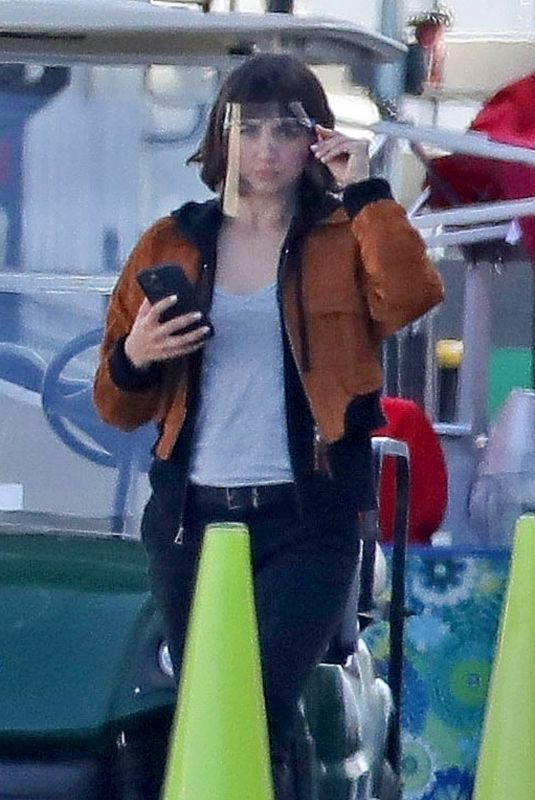 ANA DE ARMAS on the Set of The Gray Man in Los Angeles 03/24/2021
