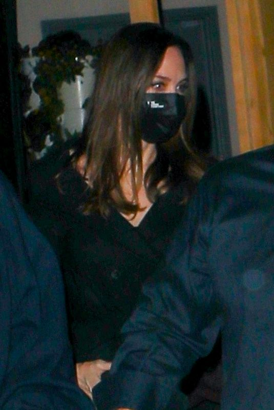 ANGELINA JOLIE at Craig's Restaurant in West Hollywood 03/04/2021
