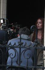 ANNABELLE WALLIS on the Set of The Silence Of Mercy in Dublin 03/03/2021