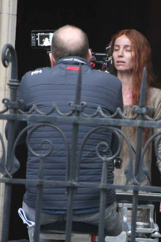 ANNABELLE WALLIS on the Set of The Silence Of Mercy in Dublin 03/03/2021